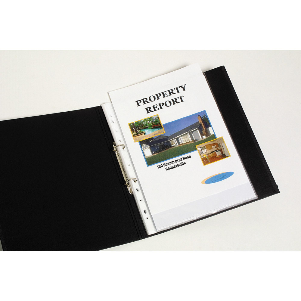 MARBIG SHEET PROTECTOR Economy A4 Low Glare Box of 100
