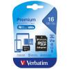 VERBATIM MEMORY CARD MICRO SDHC 16GB