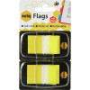 MARBIG FLAGS POP-UP Transparent 25mm x 44mm Yellow 100 Sheets Pack