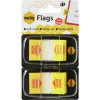 MARBIG FLAGS POP-UP SIGN HERE 25mm x 44mm Yellow 100 Sheets Pack