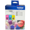 Brother LC133CL Ink Cartridge Value Pack of 3 Assorted Colours