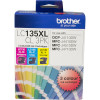 Brother LC135XLCL Ink Cartridge High Yield Value Pack of 3 Assorted Colours