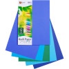 Quill XL Multioffice Paper A4 80gsm Cold Colours Assorted Pack of 100