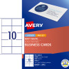 AVERY L7415 PERF BUSINESS CARD Laser/IJet White 10 Lbls/1 Sht Pack of 10 sheets