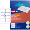 AVERY C32015-25 BUSINESS CARDS I/Jet Dbl Sided 8/Sht Matt Wht Pack of 200