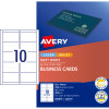AVERY C32011 BUSINESS CARDS Laser/Injet 200gsm Matt White Pack of 250