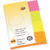 MARBIG NOTES PAGE MARKERS Brilliant 20mm x 50mm Assorted 160 Sheets Pack
