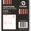Olympic Telephone Message Pads 100x120mm 50 leaf Pack of 5