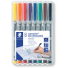 STAEDTLER 315 LUMOCOLOR PENS Non-Perm Med 1.0mm Wallet of 8
