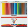 COLUMBIA COLOUR SKETCH PENCILS Assorted Colours Wallet of 24