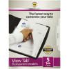 Marbig Plastic Divider A4 5 View Tab Transparent Clear