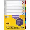 Marbig Plastic Divider A3 Reinforced 10 Tab Portrait Multi Colour