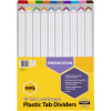 Marbig Plastic Divider A3 Reinforced 10 Tab Landscape Multi Colour