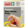 TRAFALGAR PLASTIC STRIPS FAC Plastic Strips Box of 50