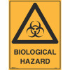 BRADY WARNING SIGN Biological Hazard 600x450 Metal
