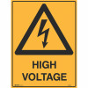 Brady Warning Sign High Voltage 600x450mm Metal
