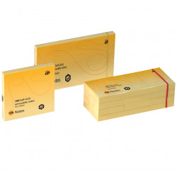 MARBIG NOTES 40mm x 50mm Yellow 1200 Sheets Pack