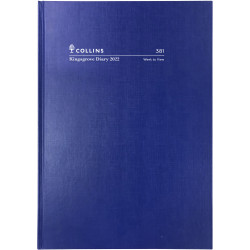 COLLINS KINGSGROVE DIARY Week To View A5 Blue