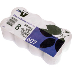 Victory Register Roll 57x57x12mm Thermal Pack of 8
