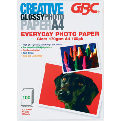 CREATIVE 160GSM A4 EVERYDAY Photo Paper 100 Sheets Pack