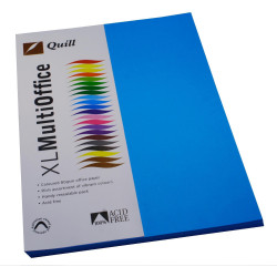 QUILL XL MULTIOFFICE 80GSM A4 Paper Marine Blue 100 Sheets Ream