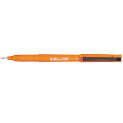 Artline 200 Fineliner Pen 0.4mm Orange