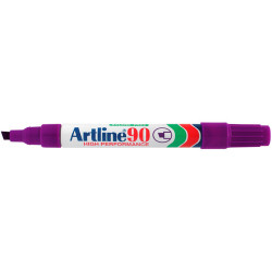 ARTLINE 90 PERMANENT MARKERS Chisel Green Pack of 12