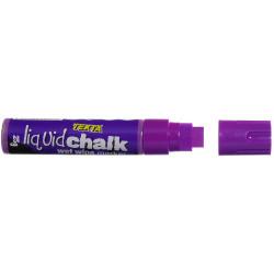 TEXTA JUMBO LIQUID CHALK Wet Wipe Chisel 15mm Nib Purple