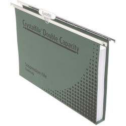 Crystalfile Suspension Files Enviro Double Capacity With Tabs & Inserts Pack Of 10