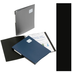 MARBIG REFILLABLE DISPLAY BOOK Pro Series A4 20 Pocket Black