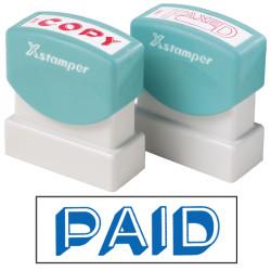 XSTAMPER STAMP CX-BN 1357 PAID BLUE