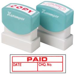 XSTAMPER STAMP CX-BN 1533 PAID/DATE/CHQ NO RED