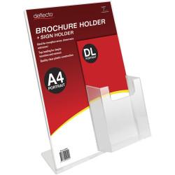 DEFLECT-O SIGN HOLDER SLANTED Dl Brochure Pocket,A4 Portrait