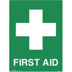 BRADY EMERGENCY SIGN First Aid 600x450mm Polypropylene